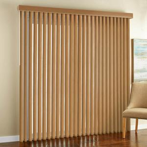 Select Faux Wood Vertical Blinds
