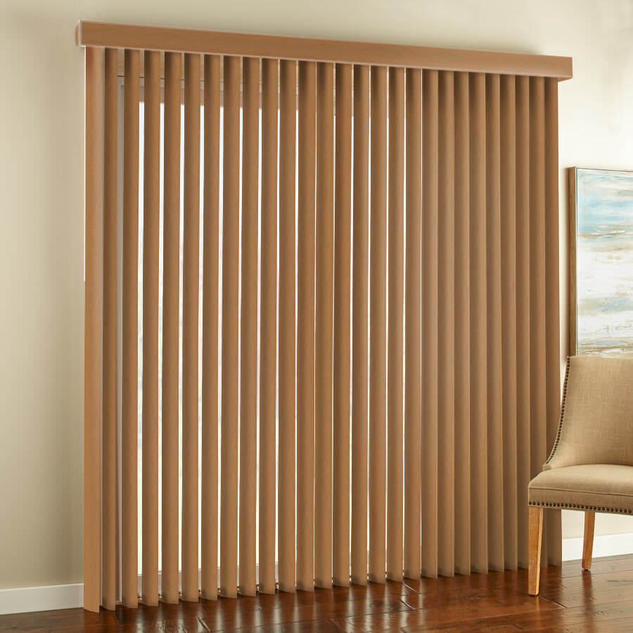 Premium Faux Wood Vertical Blinds