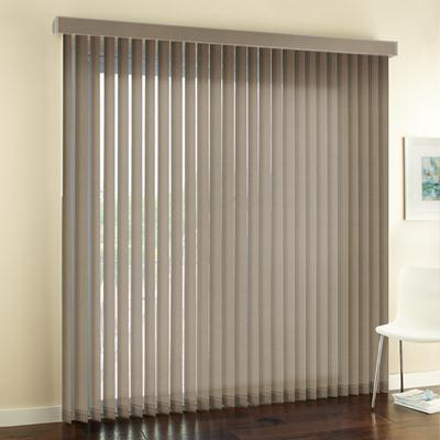 picture window blinds living room select blinds signature basic fabric vertical blinds zoom tan 2928 selectblindscom