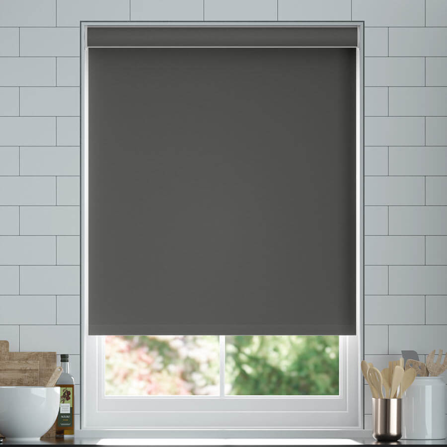 CRUSH VELVET SOFT TOUCH FABRIC TRIMABLE EASY FIT BLACKOUT ROLLER BLIND BLINDS