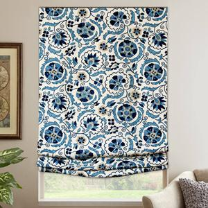 Blue Floral Scroll 7559