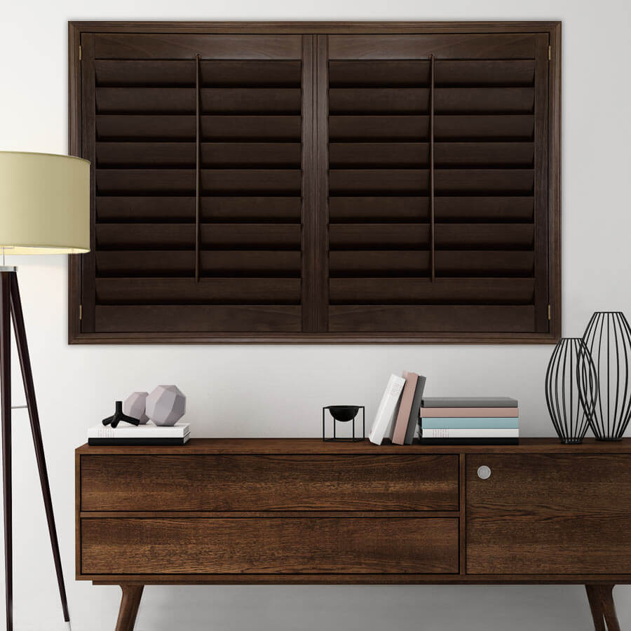 Premium Stained Wood Shutters