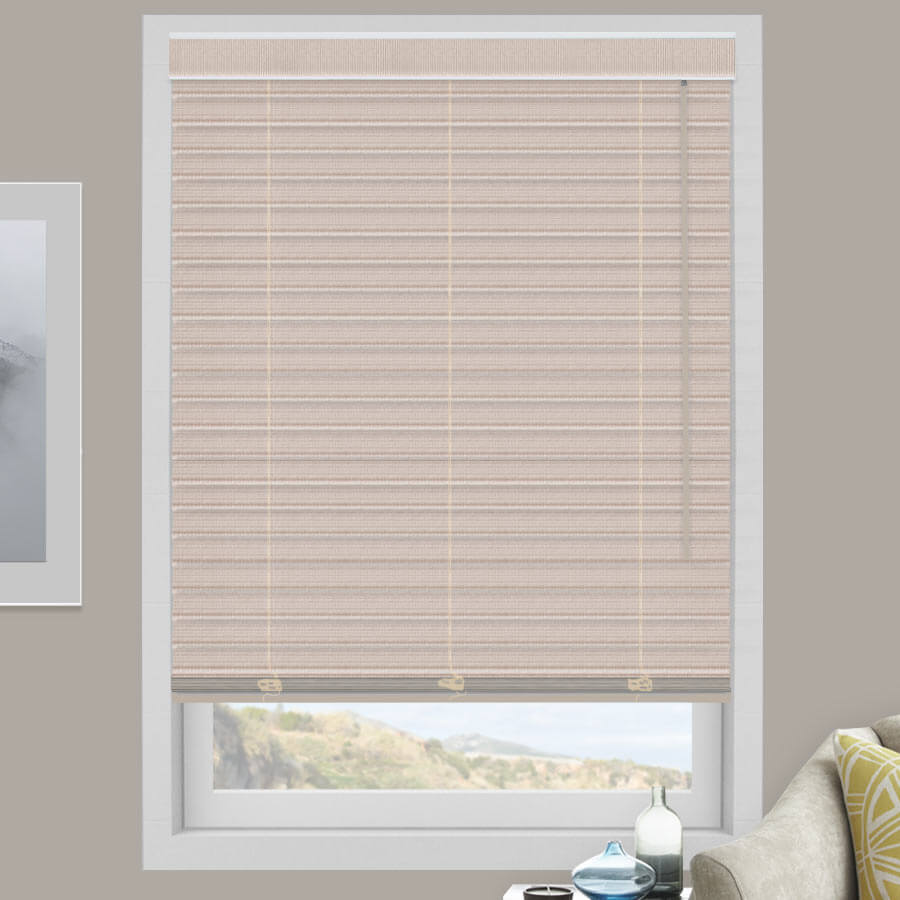 "2"" Select Classic Light Filtering Fabric Horizontal Blinds"