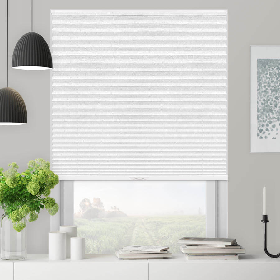 "1"" Select Blackout Pleated Shades"