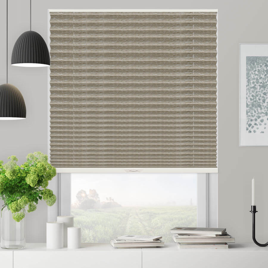 "Select 1"" Blackout Pleated Shades"