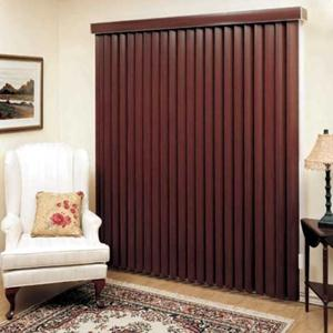 "3 1/2"" Designer Faux Wood Vertical Blinds 5397 Thumbnail"