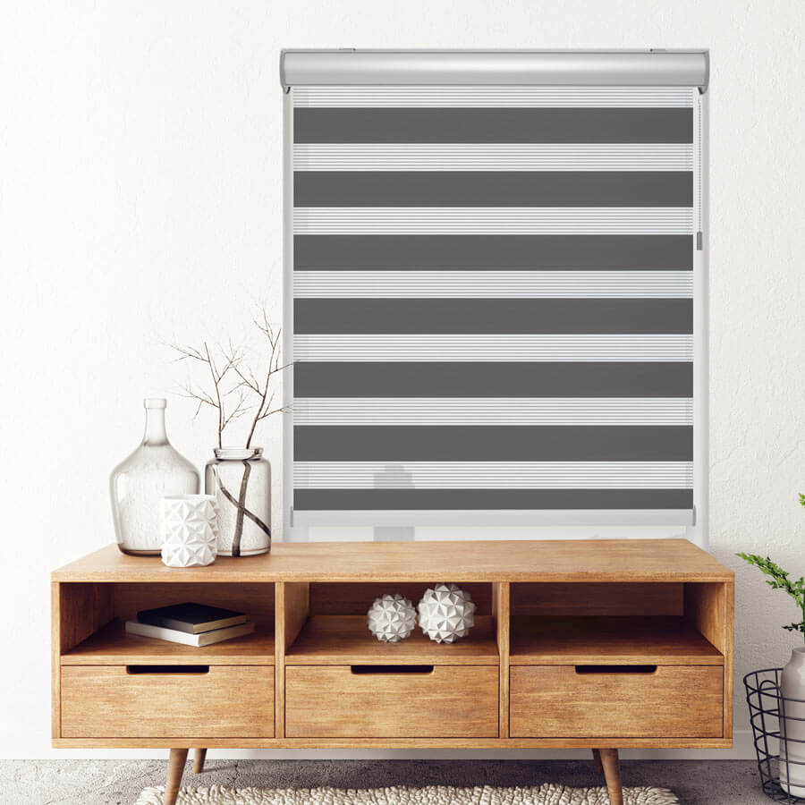 Shop our Zebra Shades now! | Pictured: Architect Dual Shade from SelectBlinds.com