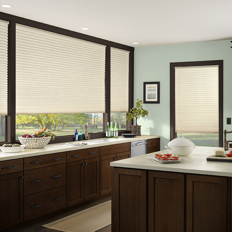 Sonoma Light Filtering No-Holes Shades help insulate your windows.