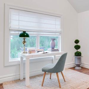 Basic Solid Light Filtering Roman Shades 6872 Thumbnail