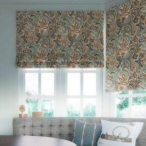 Prints and Floral Light Filtering Roman Shades 6056