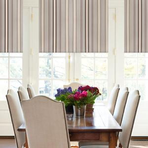 Classic Stripes Light Filtering Roman Shades 6059