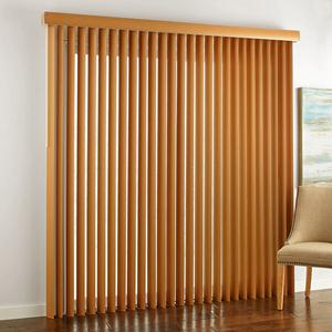 "3 1/2"" Designer Faux Wood Vertical Blinds 6635 Thumbnail"