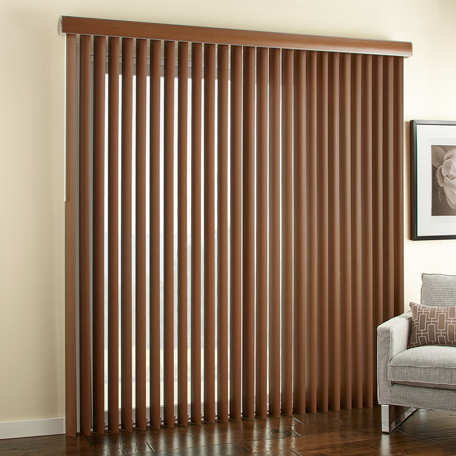 Blinds for curved windows - Select Faux Wood Vertical Blinds