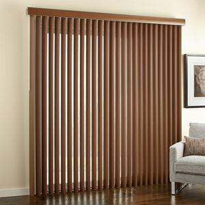 "3 1/2"" Premium Faux Wood Vertical Blinds 6641 Thumbnail"