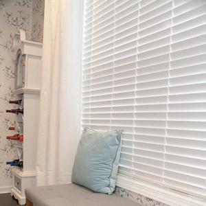 "2"" Designer Faux Wood Blinds 5842"
