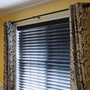 "2 1/2"" Designer Faux Wood Blinds 5856"