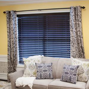"2 1/2"" Designer Faux Wood Blinds 5855"