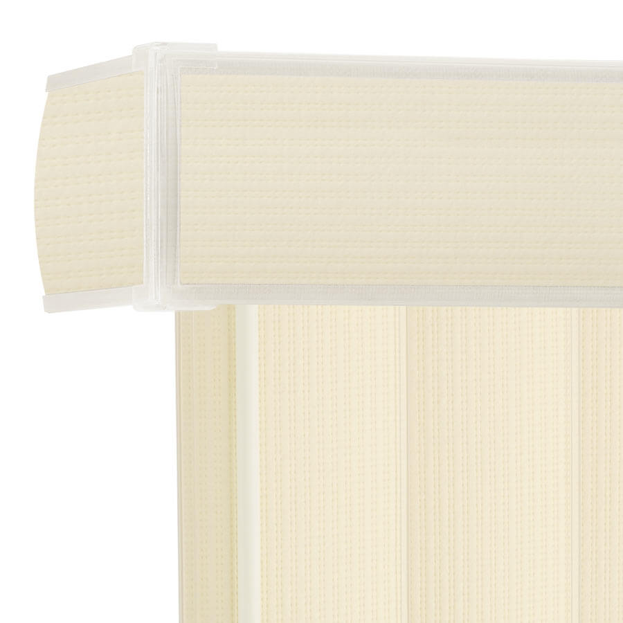 Complete Blinds Breedon Fabric WHITE or CREAM Made To Measure VERTICAL BLINDS