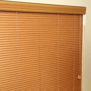 "1"" Designer Faux Wood Blinds 5745"