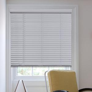 "1 1/2"" Cordless Faux Wood Blinds 6186"