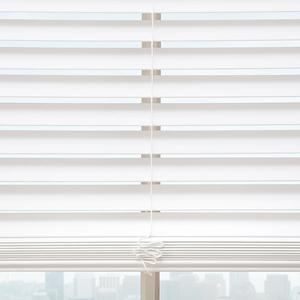 "1 1/2"" Cordless Faux Wood Blinds 6572"