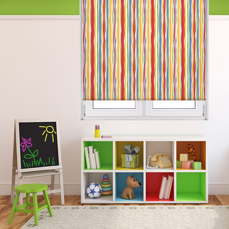 Carriann Kids Blackout Roller Shades are one solution for classroom window treatments.