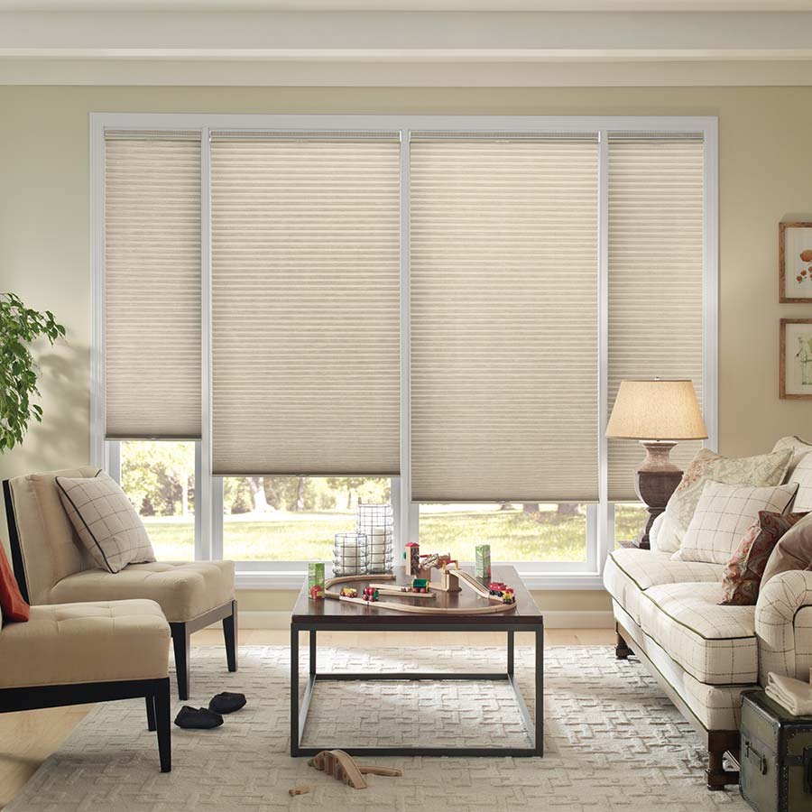 Good Housekeeping 3/8 inch Double Cell Light Filtering Shades are energy efficient window coverings.