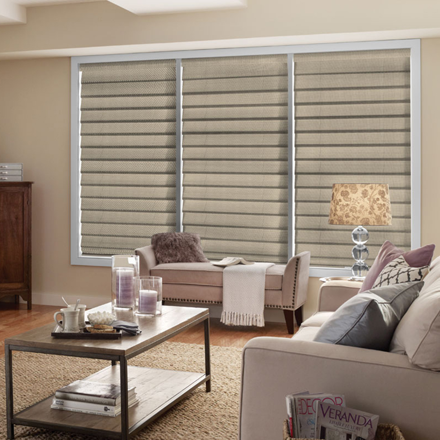 Add liners to these Good Housekeeping Room Darkening Romans to make them more energy efficient.