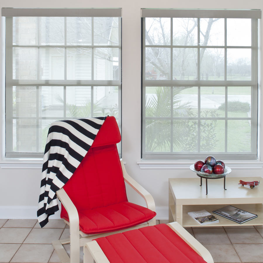 Shop our Solars now! | Pictured: Signature Sheer Weave 10% Solars from SelectBlinds.com