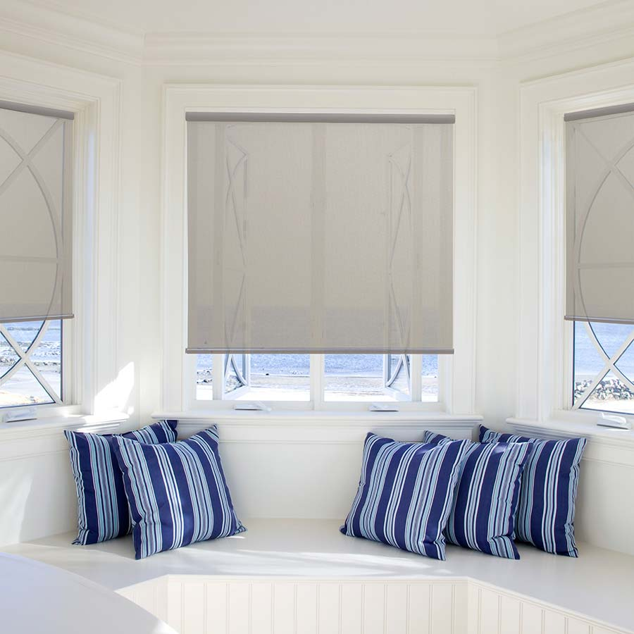 bedroom shades. Block harmful UV rays with Solar Screen 5 Percent Roller Shades  Bedroom Window Coverings Ideas