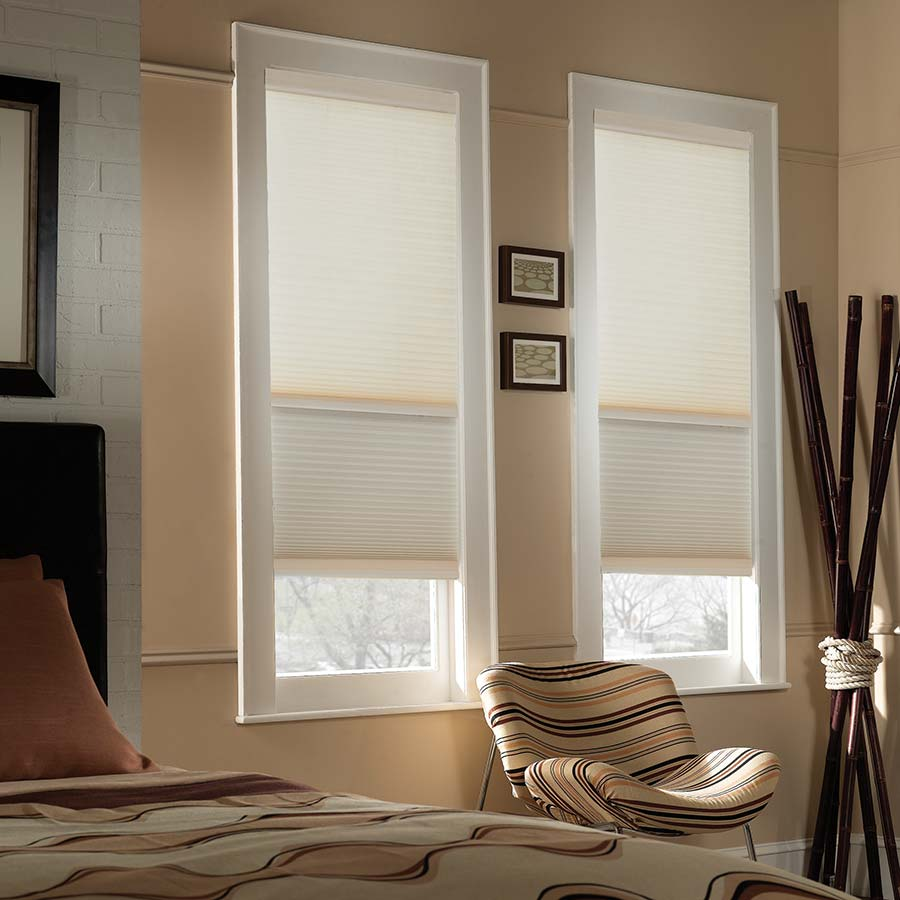 Get the best of both worlds with Light Filtering/Blackout Cordless Cellular Shades!