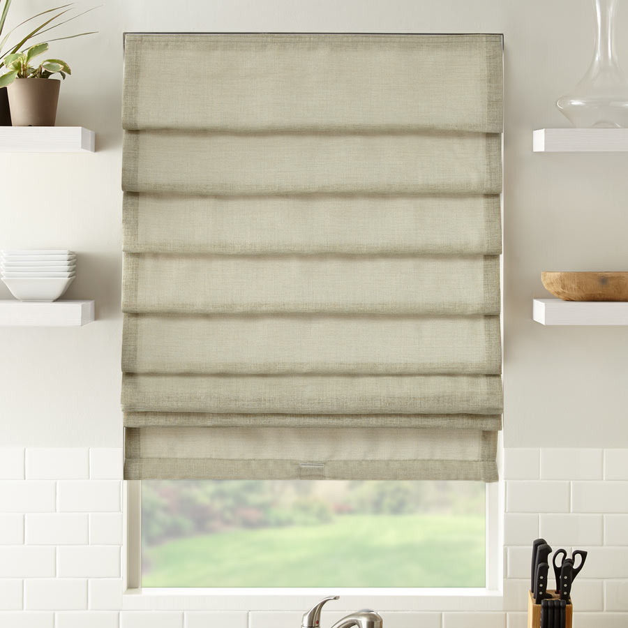 Premium Solid Light Filtering Roman Shades