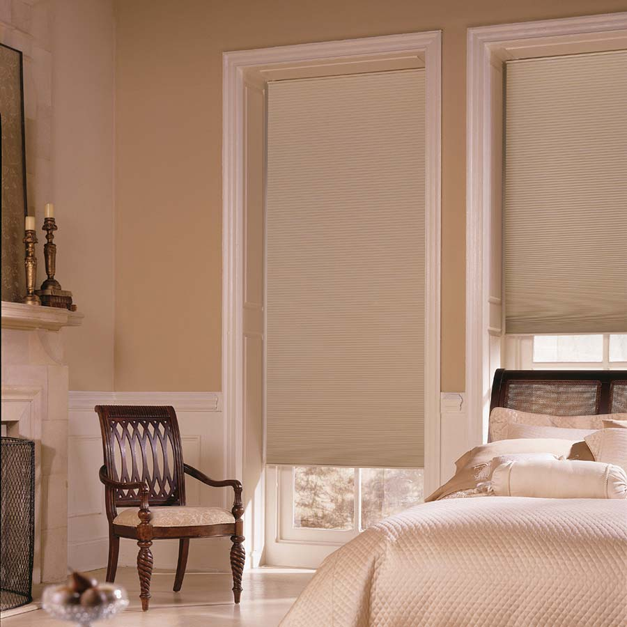 Reduce the glare on your bedroom TV with these 3/8 inched double cell blackout shades.