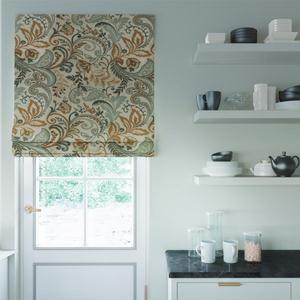 Prints and Floral Light Filtering Roman Shades