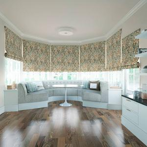 Prints and Floral Light Filtering Roman Shades 6057