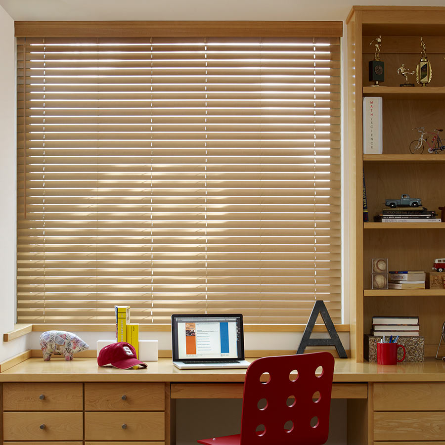 Shop our wood window treatments