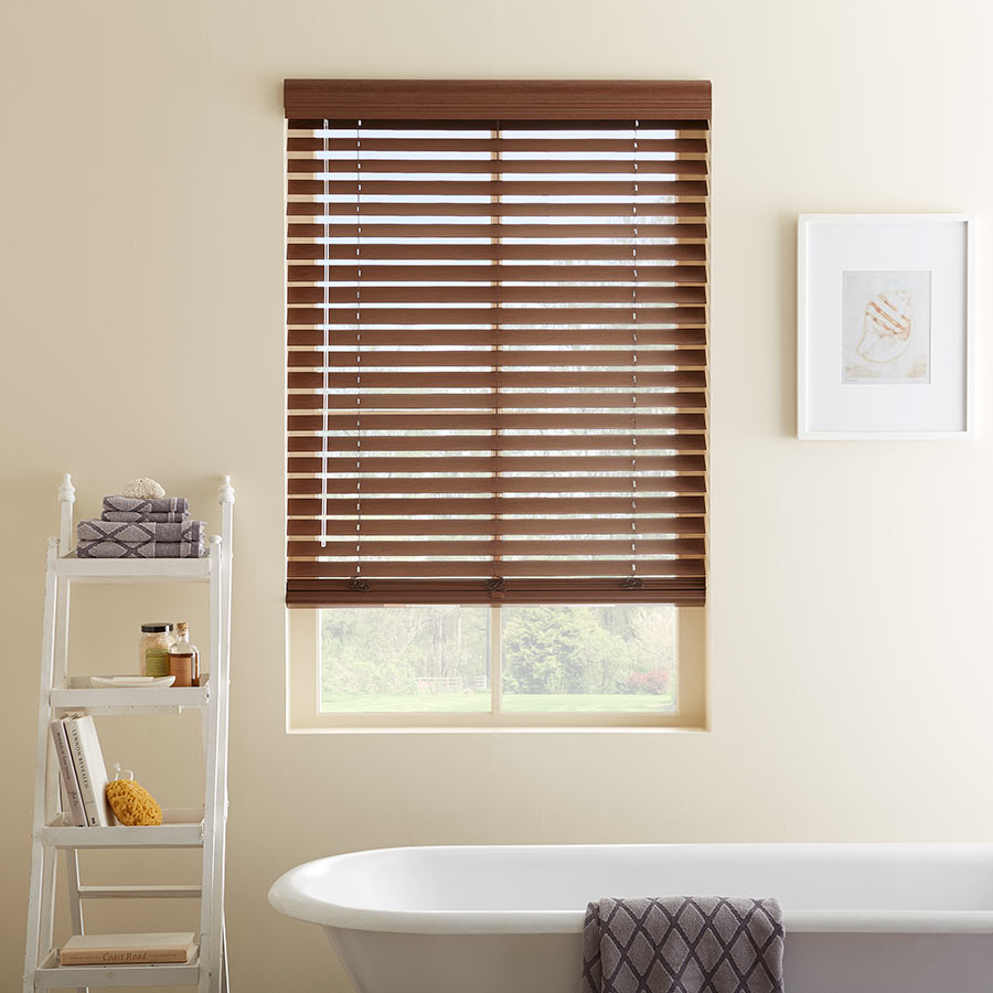 Shop our faux wood window treatments