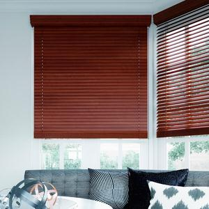 "2"" Designer Faux Wood Blinds 6740 Thumbnail"