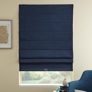 Signature Basic Solid Blackout Roman Shades