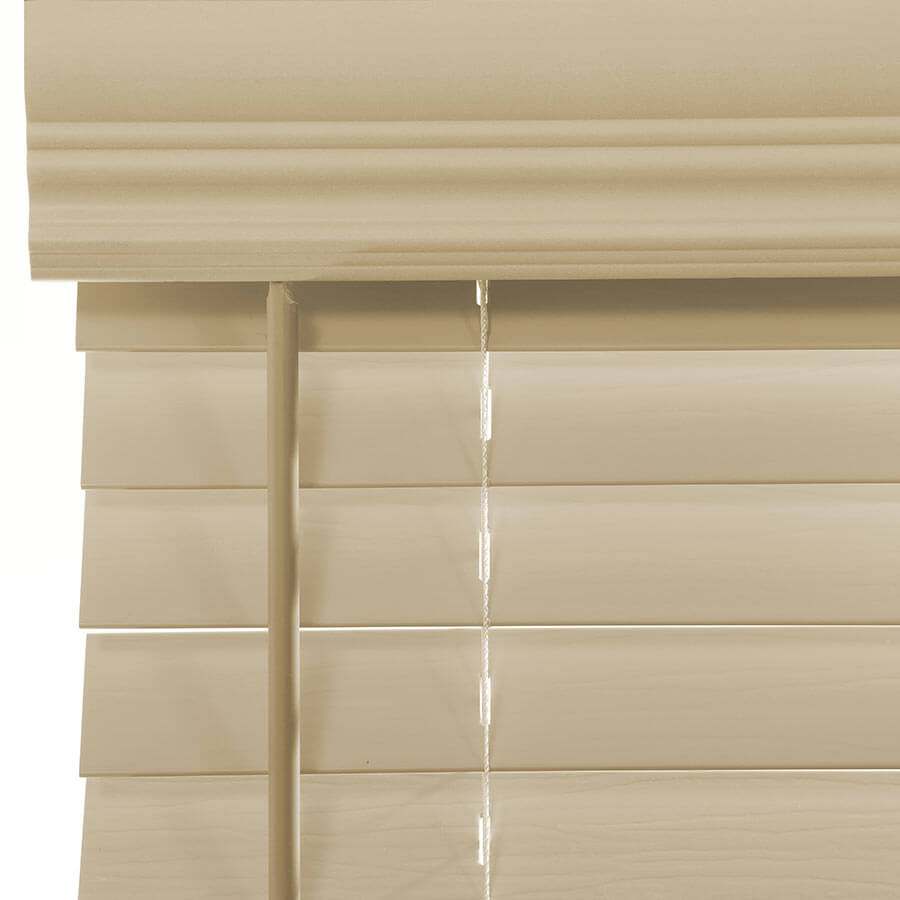 2 Premium Faux Wood Blinds From
