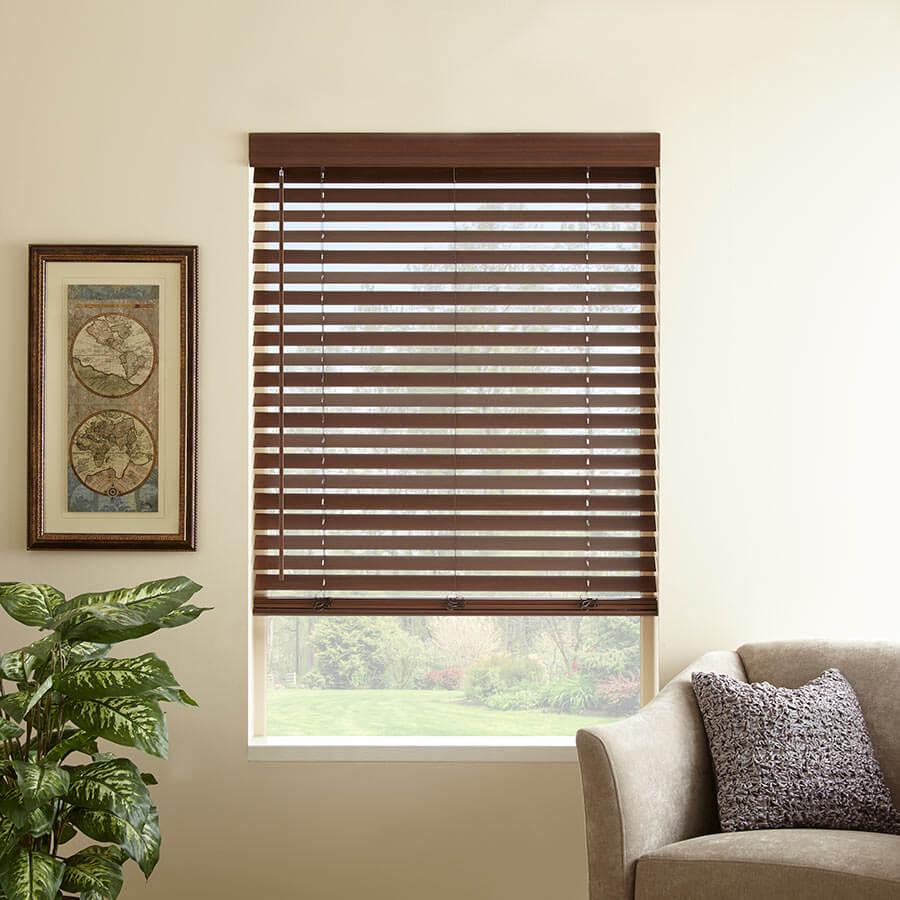 Shop our faux wood window treatments