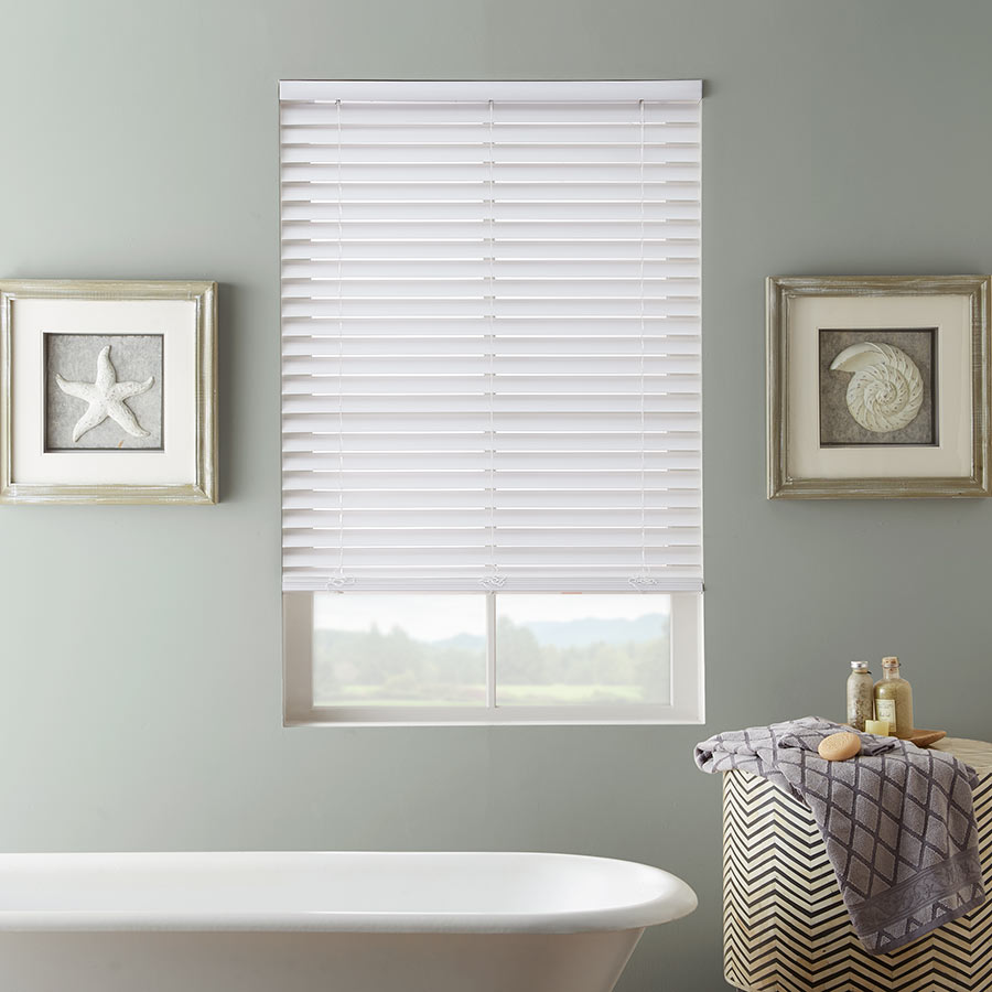 Ideas for bathroom window blinds and coverings for Bathroom window designs