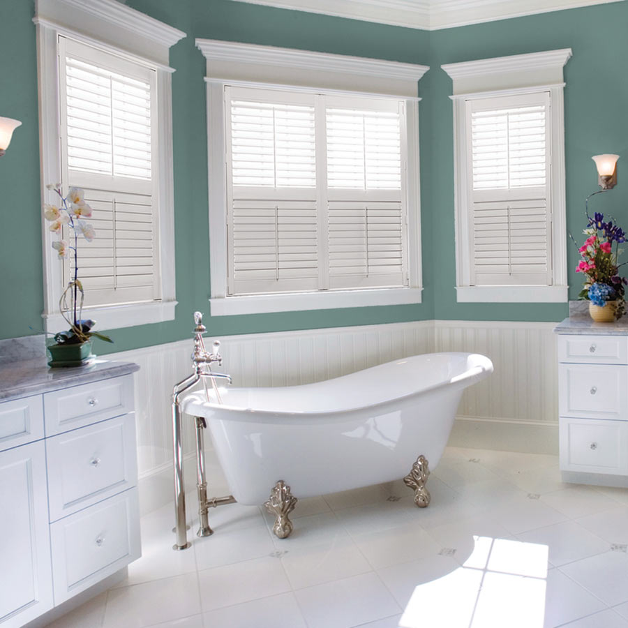 Shop our Shutters now! | Pictured: Signature Faux Woods from SelectBlinds.com