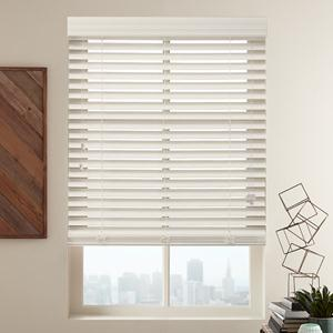 "Summer White 2"" Select Faux Wood Blinds"