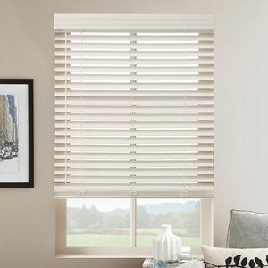 "Summer White 2"" Select Cordless Faux Wood Blinds"