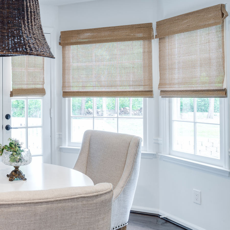 Image Result For Woven Wood Roman Shades