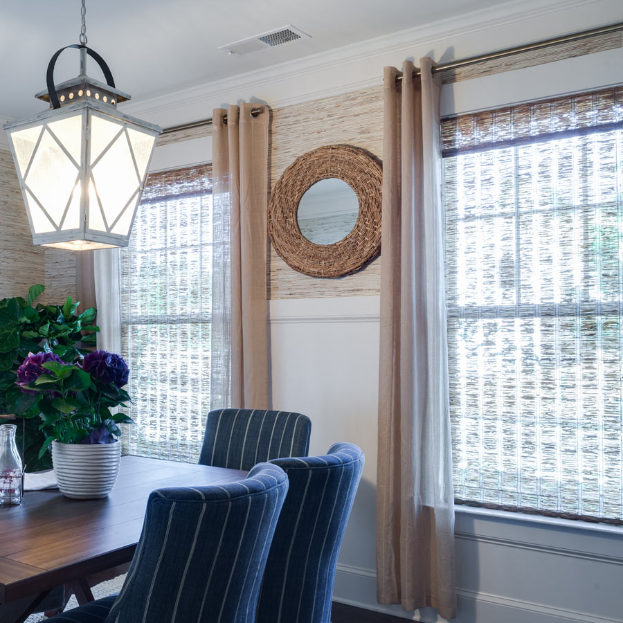 bamboo and woven shades - Window Treatment Design Ideas
