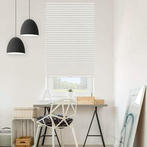 "Select 1"" Blackout Pleated Shades 22996 Thumbnail"