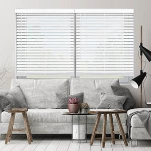 SelectBlinds Cordless Faux Wood in White