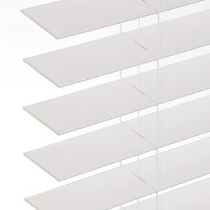 White, Matte Cordless Faux Woods| SelectBlinds.com